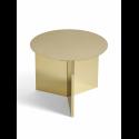SLIT Round Table Polished Brass konferenčný stolík