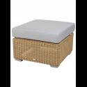 CHESTER konferenčný stolík/podnožka NATURAL/svetlošedý vankúš