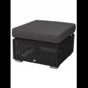 CHESTER konferenčný stolík/podnožka, GRAPHITE, čierny vankúš
