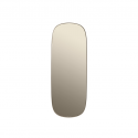 FRAMED L zrkadlo  taupe