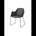 BREEZE jedálenská stolička, black