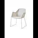 BREEZE jedálenská stolička, white grey