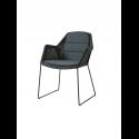 BREEZE jedálenská stolička, black, čierny sedák