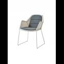 BREEZE jedálenská stolička, white grey, čierny sedák