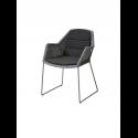 BREEZE jedálenská stolička, light grey, čierny sedák