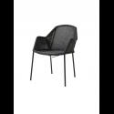 BREEZE jedálenská stolička stohovateľná, black