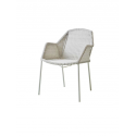 BREEZE jedálenská stolička stohovateľná, white grey