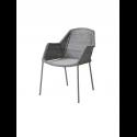 BREEZE jedálenská stolička stohovateľná, light grey
