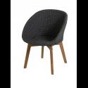 PEACOCK jedálenská stolička, dark grey