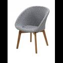 PEACOCK jedálenská stolička, light grey