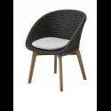 PEACOCK jedálenská stolička, dark grey, so sedákom