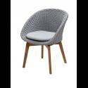PEACOCK jedálenská stolička, light grey, so sedákom
