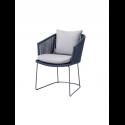 MOMENTS stolička, blue, so sedákom