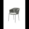 MOMENTS stolička stohovateľná, grey, so sedákom