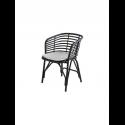 BLEND jedálenská stolička, lava grey, biely sedák
