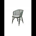 BLEND jedálenská stolička, dark green, biely sedák