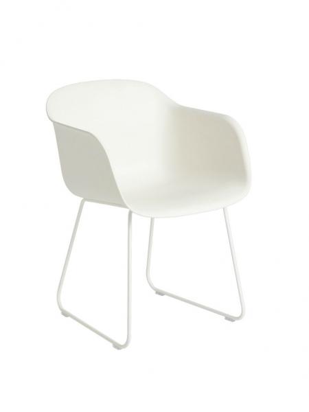 FIBER ARMCHAIR  stolička, lyžinová podnož