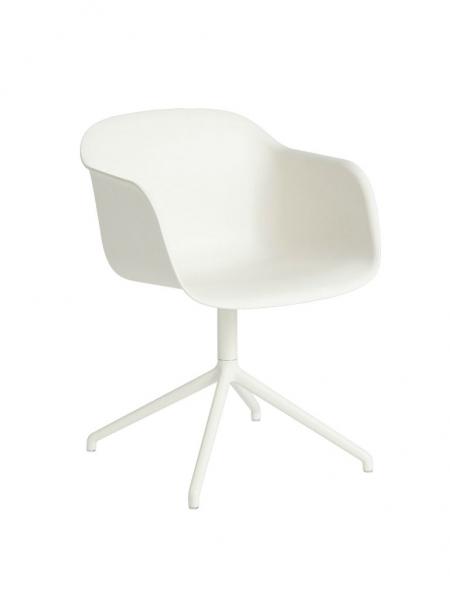 FIBER ARMCHAIR stolička, otočná podnož