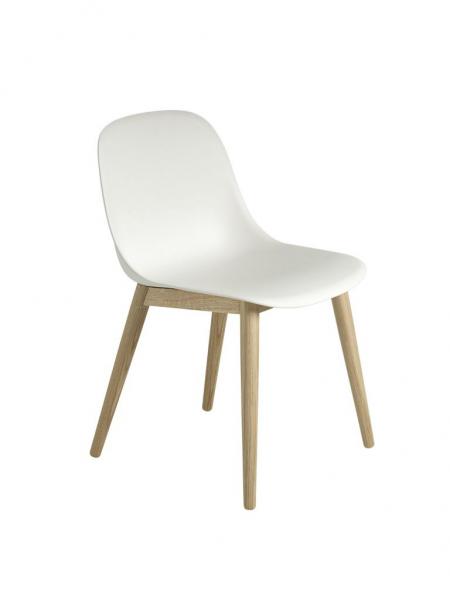 FIBER SIDE CHAIR  stolička, drevená podnož