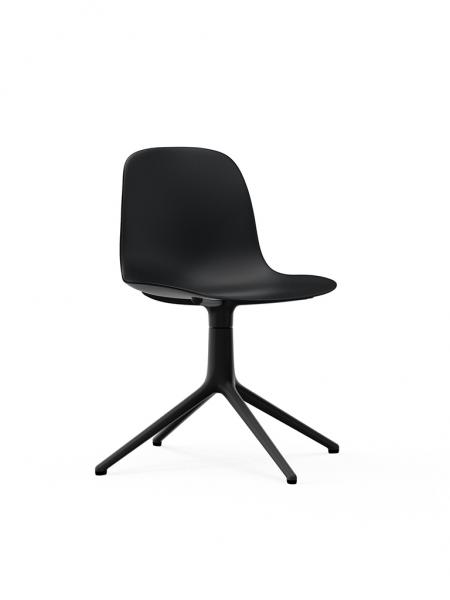 Form Chair Swivel 4L Black stolička s centrálnou podnožou