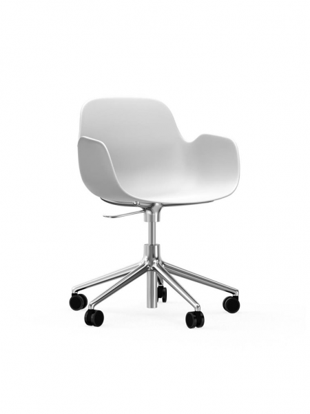 Form Armchair Swivel 5W Alu stolička na kolieskach