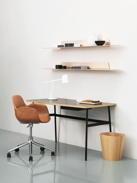 Form Armchair Swivel 5W Black stolička na kolieskach
