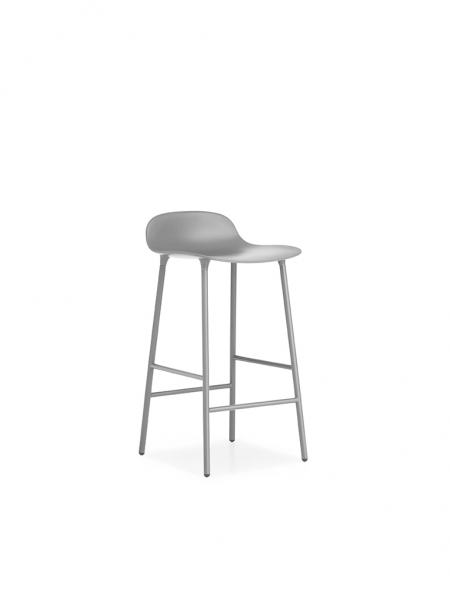 Form Barstool 65cm Steel barová stolička nízka