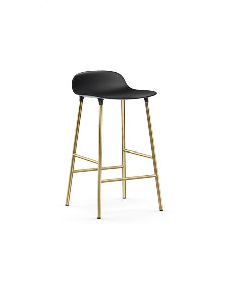 Form Barstool 65cm Brass barová stolička nízka