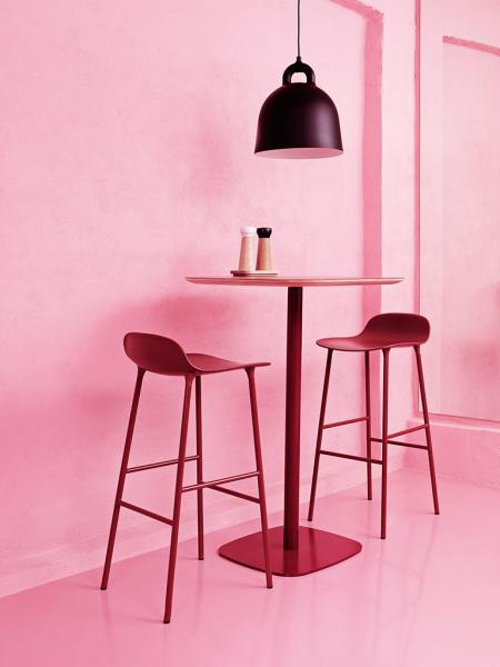 Form Barstool 75cm Steel barová stolička vysoká