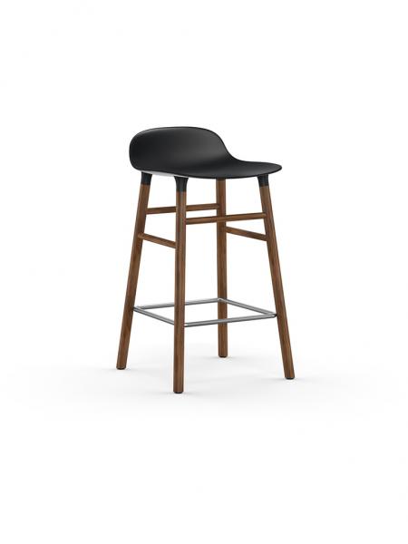 Form Barstool 65cm Walnut barová stolička nízka