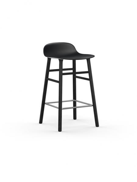Form Barstool 65cm Black barová stolička nízka