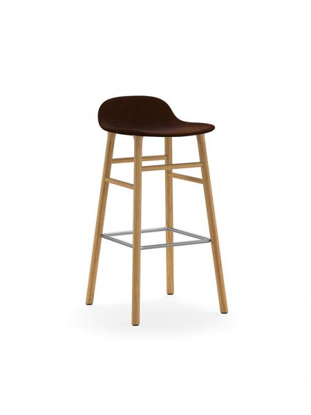 Form Barstool 75cm Wood Full Upholstery čalúnená barová stolička vysoká