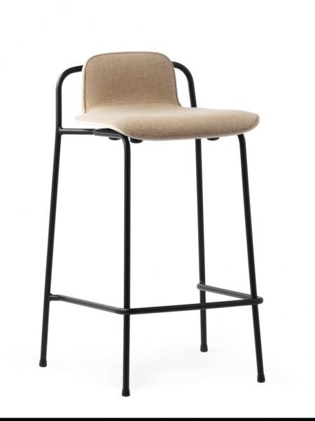 Studio Barstool 65cm Front Upholstery barová stolička s čalúneným sedákom