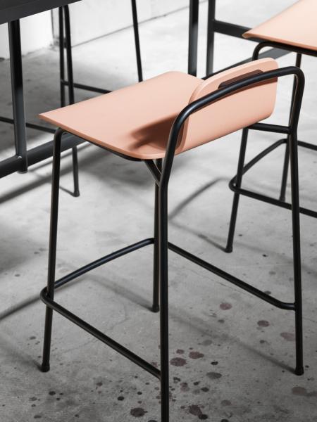 Studio Barstool 65cm Full Upholstery čalúnená barová stolička
