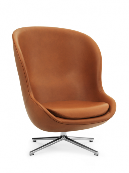 Hyg Lounge Chair High Swivel kreslo s otočnou podnožou