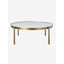 Tab Round Coffee Table Low brass