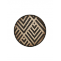 GRAPHITE CHEVRON wooden tray, S