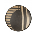 ASYMMETRIC DOT wooden tray, XL
