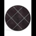 SLATE LINEAR SQUARES glass tray, XL
