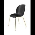 BEETLE stolička, conic base brass/black