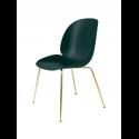 BEETLE stolička, conic base brass/dark green