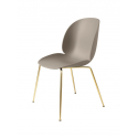 BEETLE stolička, conic base brass/new beige