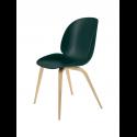 BEETLE stolička, wood base, oak/dark green