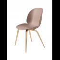 BEETLE stolička, wood base, oak/sweet pink