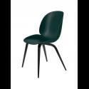BEETLE stolička, wood base, black/dark green