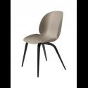 BEETLE stolička, wood base, black/new beige