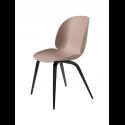 BEETLE stolička, wood base, black/sweet pink