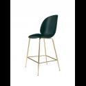 BEETLE counter chair, brass/dark green