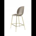 BEETLE counter chair, brass/new beige