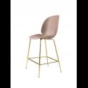 BEETLE counter chair, brass/sweet pink